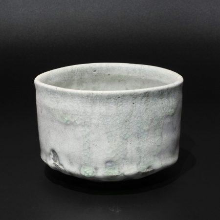 辻村唯 白志野 茶碗 ビードロ 穴窯 自然釉