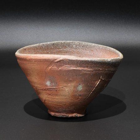 鯉江良二 常滑 茶碗 自然釉 焼〆