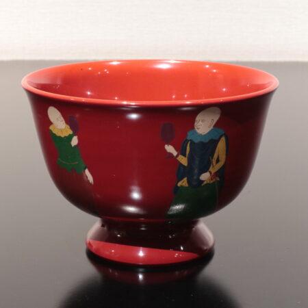 陶胎漆器 前端春斉 加賀 茶碗
