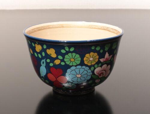前端春斉 陶胎漆器 茶碗