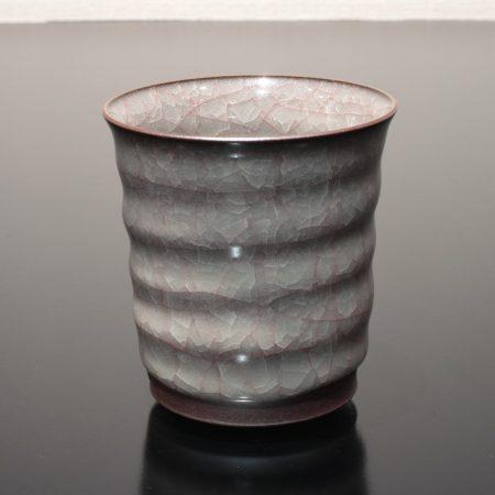 米色瓷湯呑 志賀暁吉 焼酎杯 カップ