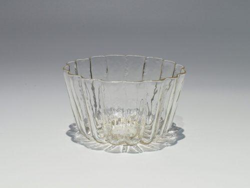 津田清和 ガラス 硝子 筒鉢 向付 菊形