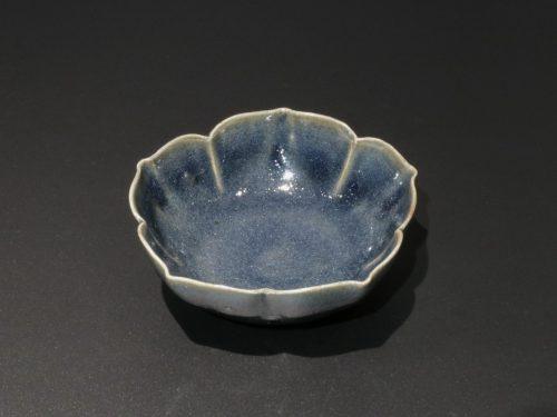 岸野寛 伊賀 瑠璃釉桔梗向付 食器 小鉢