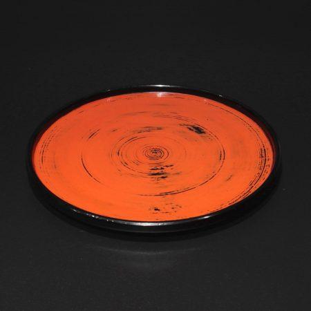 村瀬治兵衛 根来日の丸盆 漆器 皿
